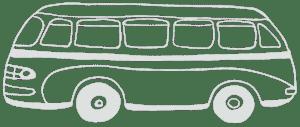 Vintage bus Greece
